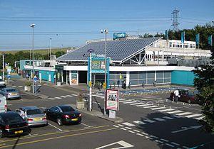 Toddington services - The main building.