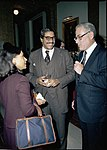 Togo West and Harold Brown at Defense Christmas Party 17 Dec 1980.jpg