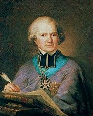Portrait of Adam Naruszewicz with a book Historya Narodu Polskiego\