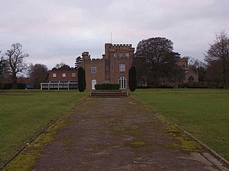 St Hugh's College, Tollerton - Image: Tollerton Hall and Church geograph.org.uk 1095988