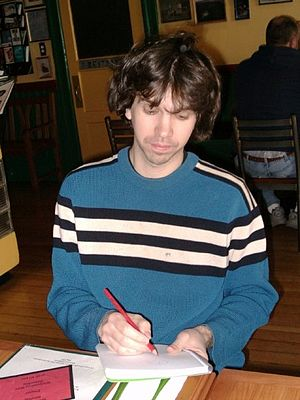 Tom Hart (cartoonist) - Hart, photographed at the 2003 Alternative Press Expo (APE) in San Francisco.