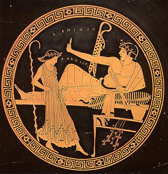 Women in dance - Image: Tondo of a Kylix by the Brogos Painter