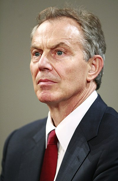 Tony Blair, former Prime Minister of the United Kingdom
