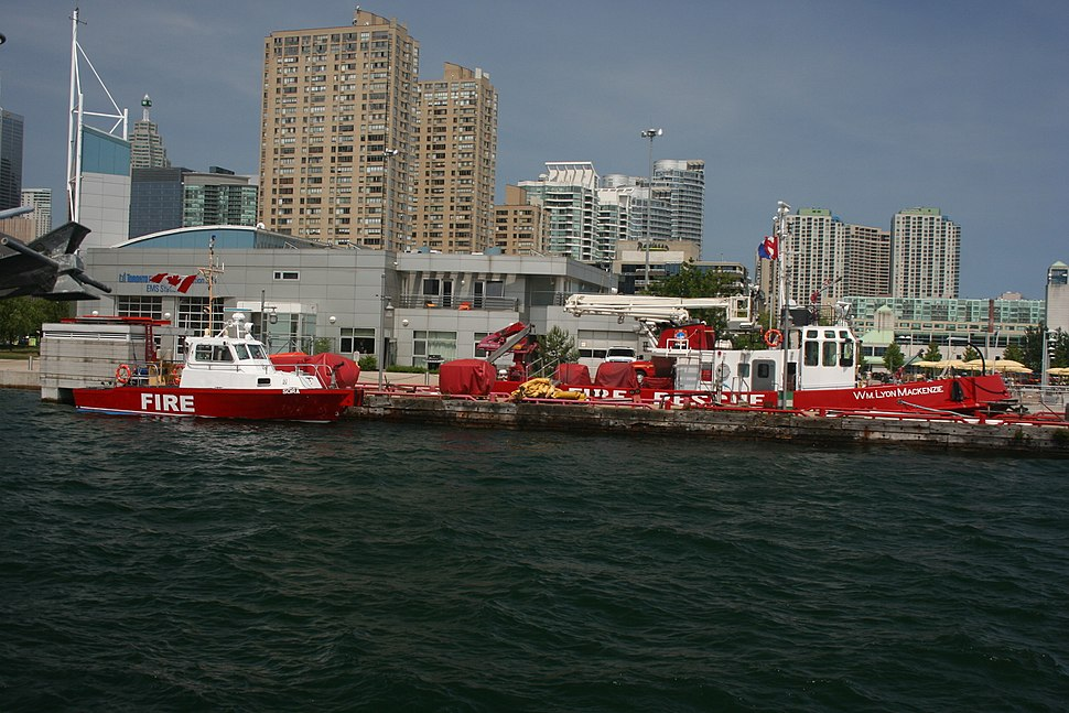 Toronto fireboats Sora and William Lyon Mackenzie -a