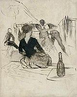 Toulouse-Lautrec - AU MOULIN DE LA GALETTE, LA GOULUE ET VALENTIN LE DESOSSE, 1887, MTL.123.jpg