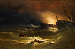 George Inness: Tragedy at Sea
