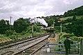 Train approaching Totnes (DVR), 1969 - geograph.org.uk - 1621993.jpg