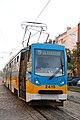 Tram in Sofia near Russian monument 039.jpg