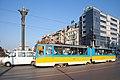 Tram in Sofia near Sofia statue 2012 PD 044.jpg