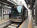 Tramcar for Hamadera-Ekimae Station at Tennoji-Ekimae Station 2.jpg