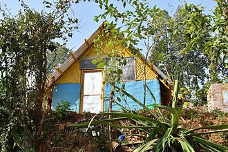 Chaudhary Group - Transitional shelter built by Chaudhary Group in Madevsthan of Kavre district, approximately 60km east of Kathmandu.