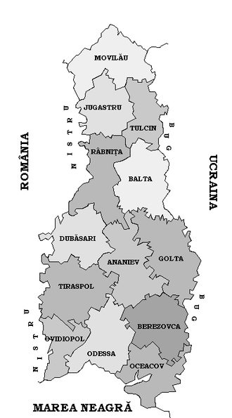 """Romanians in Ukraine - Romania occupied (August 19, 1941 - January 29, 1944) the """"Transnistrian"""" region between Dniester, Southern Bug rivers and Black Sea coast."""