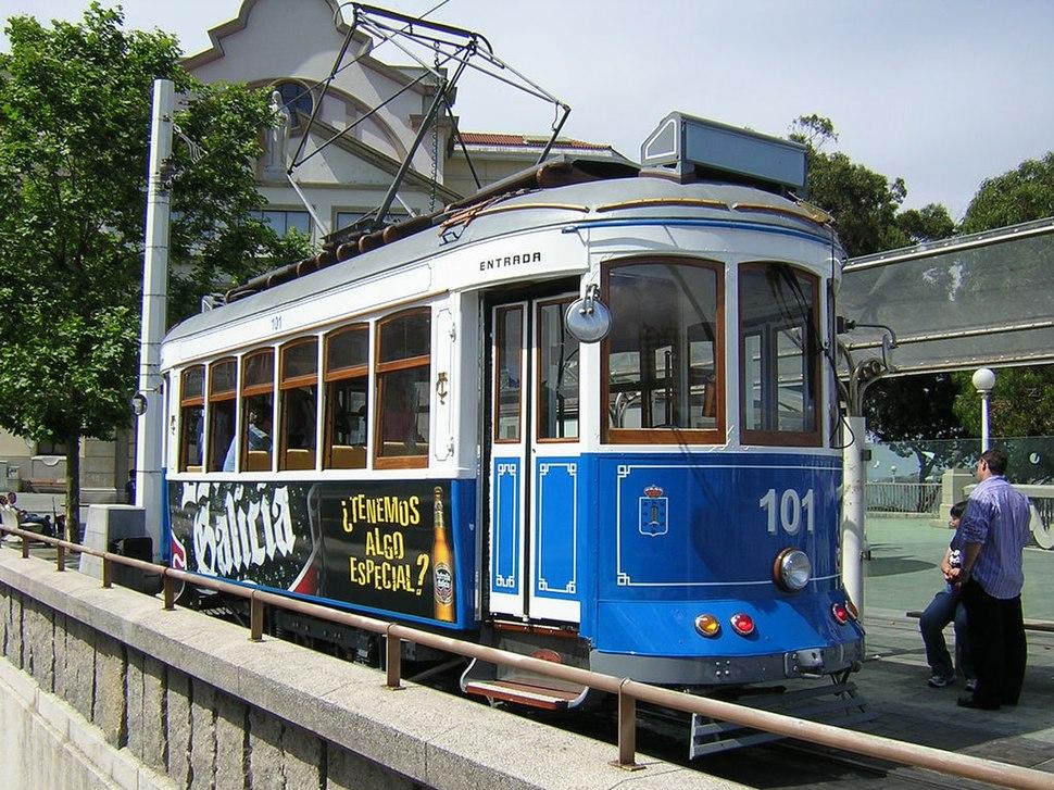 Tranvía.A Coruña Galicia