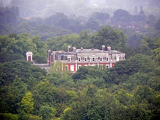 Tring Park School for the Performing Arts - Tring Park Mansion viewed from a nearby hill.
