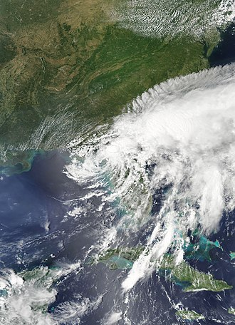 Tropical Storm Debby (2012) - Tropical Storm Debby near landfall in Florida on June 26