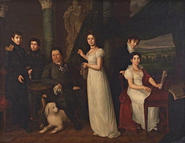 В.А.Тропинин. Семейный портрет графов Морковых, 1813г.