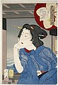 Tsukioka Yoshitoshi - Looking Cool - a Geisha in the fifth or sixth year of Meiji.jpg