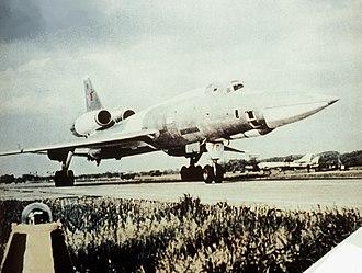Tupolev Tu-22 - A parked Tupolev Tu-22.