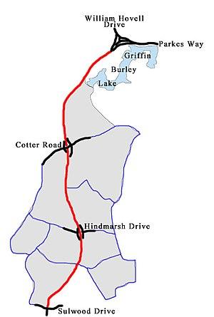 Tuggeranong Parkway - Image: Tuggeranong Parkway 1