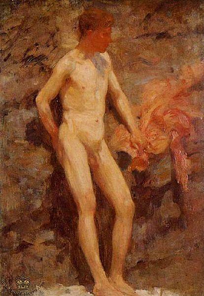 File:Tuke, Henry Scott (1858–1929) - Charlie Mitchell.jpg