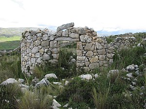 Tunanmarca - The ruins of a storage building at Tunanmarka
