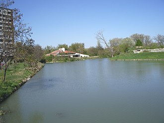 Tundzha - Tundzha River in Yambol, Bulgaria - near the City Stadium and the City Park