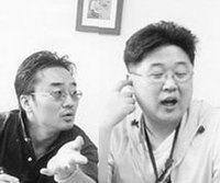 Two koreans in discussion.jpg