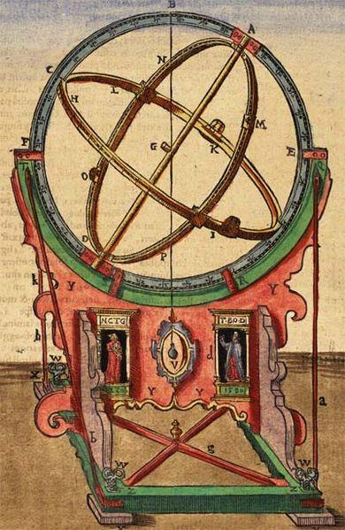 jedno zo zariadení, ktoré používal Tycho Brahe na zameriavanie nebeských telies