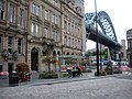 Tyne Bridge and summer flowers - geograph.org.uk - 1413828.jpg