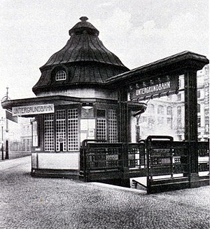 Hausvogteiplatz (Berlin U-Bahn) - U-Bahn entrance, 1908