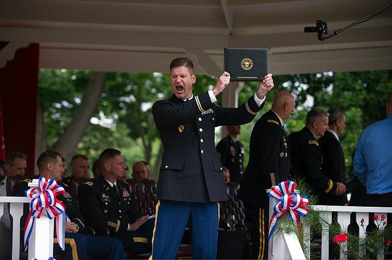 file u s army col james skelton celebrates after receiving his  file u s army col james skelton celebrates after receiving his diploma during the army