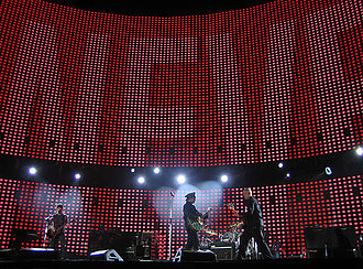 Graduation (album) - West's experiences on arena rock tours such as U2's Vertigo Tour (pictured) inspired his direction for the album.