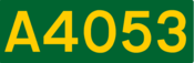 A4053 road shield