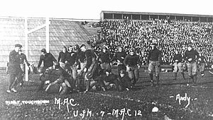 Old College Field - MSU vs UM football in 1913