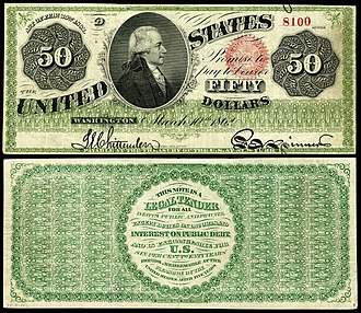 United States fifty-dollar bill - 1862 $50 Legal Tender note