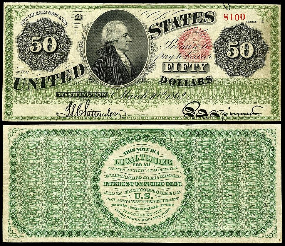 US-$50-LT-1862-Fr-148a