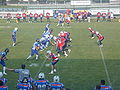 USA-ITA american football test match, line of scrimmage prior to a play.JPG