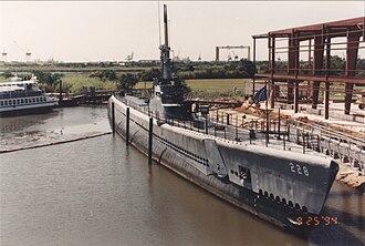 Battleship Memorial Park - Image: USS Drum (SS 228) 1994