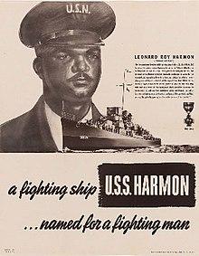 USS Harmon poster