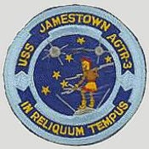 USS Jamestown (AGTR-3) - Image: USS Jamestown patch