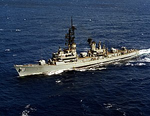 USS Lynde McCormick (DDG-8) underway in 1974