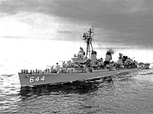 USS Stembel (DD-644) underway in 1957.JPG
