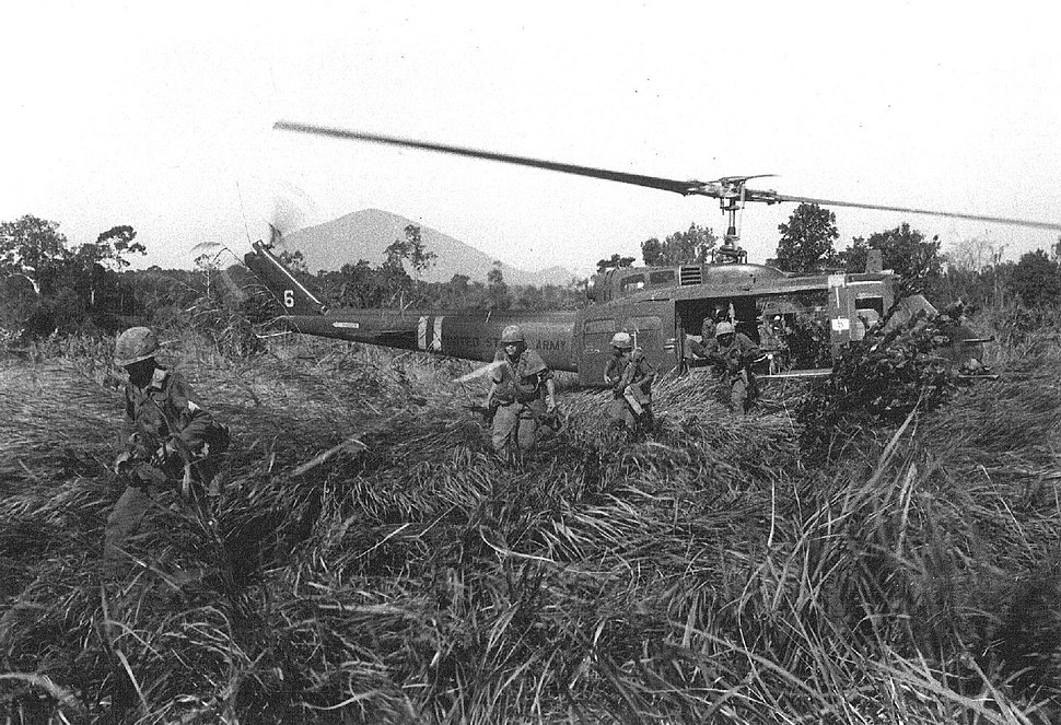 US Infantry Deploy from UH-1D Vietnam