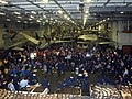 US Navy 021203-N-5821P-003 Damage Control Training in the aircraft carrier's hangar bay.jpg