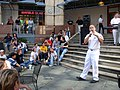 US Navy 051106-N-5006P-038 Musician 3rd Class Sean Meyer, of Navy Band New Orleans, entertains the crowd during a band performance at the Rivercenter Mall in downtown San Antonio, Texas.jpg