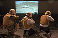 US Navy 070426-M-9389C-038 Sailors from Bataan Expeditionary Strike Group fire weapons in the indoor simulated marksmanship trainer.jpg