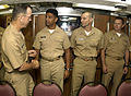 US Navy 070507-N-0696M-074 Chief of Naval Operations (CNO) Adm. Mike Mullen greets officers assigned to USS Pasadena (SSN 752).jpg