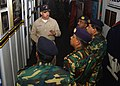 US Navy 071206-N-2152Z-001 Capt. David F. Bean, executive officer aboard the amphibious assault ship USS Tarawa (LHA 1), gives Bangladeshi military officials a guided tour of the ship.jpg