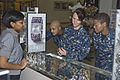 US Navy 081107-N-9999X-001 Sailors wear the Navy working uniform (NWU) while shopping at the Naval Air Station Oceana Navy Exchange.jpg