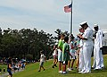 US Navy 090506-N-2821G-053 Sailors sign autographs for children at The Players Championship golf tournament at TPC Sawgrass during Military Appreciation Day.jpg